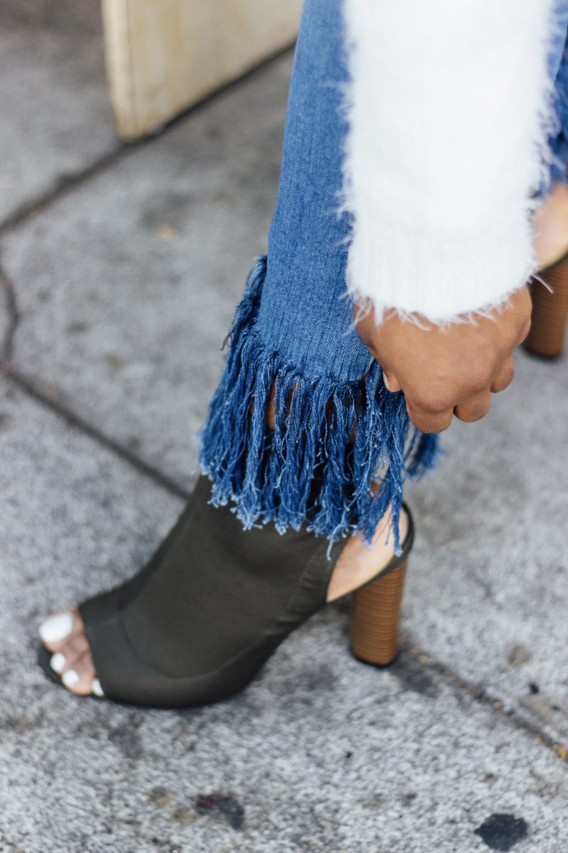 DIY Fringe Denim Jeans | In Fashion I Trust